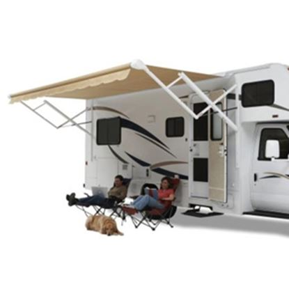 Picture of Carefree Eclipse/Travel'r/Pioneer Blue Vinyl 16'L X 8' Extension Adj Pitch Springless Patio Awning QJ166C00 00-0764