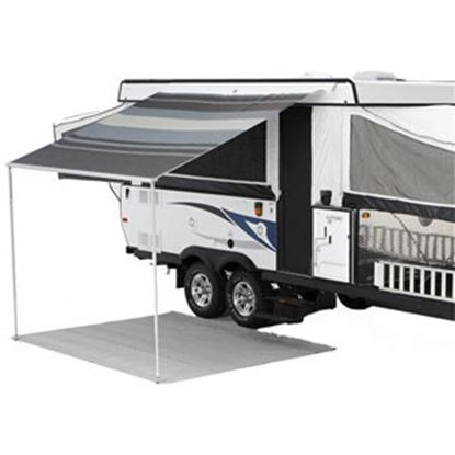 """Picture of Carefree Campout Ocean Blue Vinyl 11' 6""""L X 8' 2""""Ext Adj Pitch Manual Bag Awning 981388E00 00-1024"""