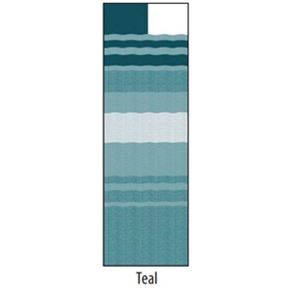 """Picture of Carefree  13' 2"""" Teal Dune Stripe w/ W WG Vinyl Patio Awning Fabric JU148C00 00-1633"""