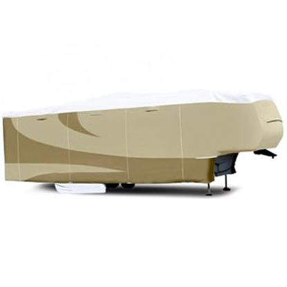 """Picture of ADCO Tyvek (R) Plus Gray Polypropylene Cover For 28' 1""""-31' 5th Wheel Trailers 34854 01-0141"""