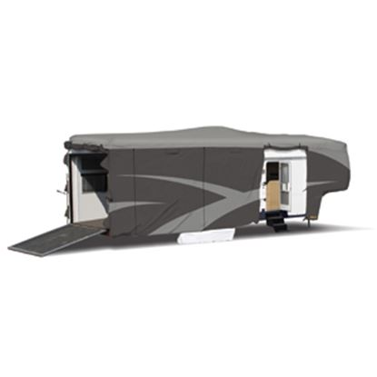 "Picture of ADCO Designer SFS Aquashed (R) Gray Fabric Cover For 30' 1""-34' 6"" Toy Haulers 52275 01-0263"