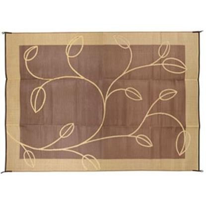 Picture of Camco  6' x 9'  Brown/ Tan Camping Mat 42875 01-0745