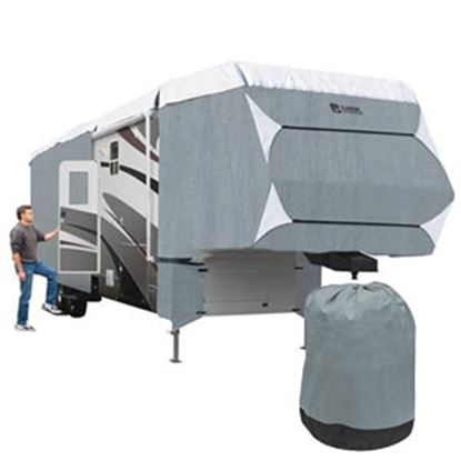 """Picture of Classic Accessories PolyPRO (TM) 3 Polyester Water Resistant RV Cover For 41'1""""-44' 5th Wheel Trailer 80-300-203101-RT 01-081"""