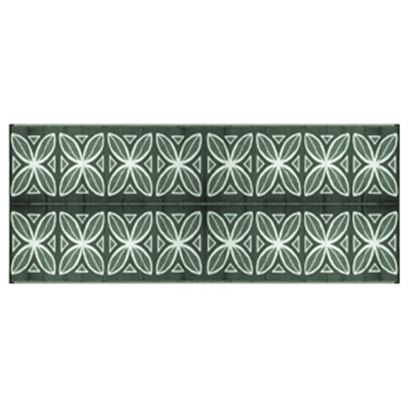 Picture of Camco  8' x 20' Green Botanical Reversible Camping Mat 42830 01-2940