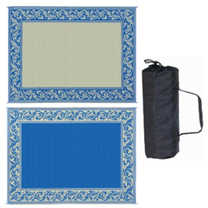 Picture of Ming's Mark  9' x 12' Blue/Beige Reversible Camping Mat RA3 01-4201