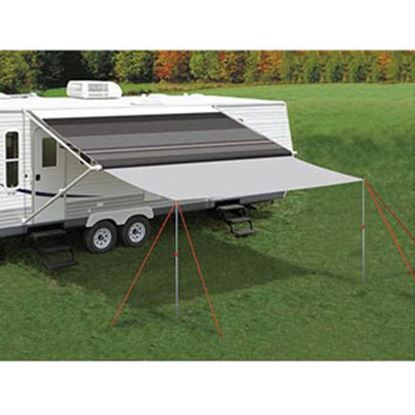 """Picture of Carefree Awning Extend'R 14' L x 98"""" Ext Gray Polyester Awning Extension Panel UU1408 01-4654"""