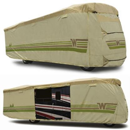 """Picture of ADCO Winnebago (TM) Tan Polypropylene Cover For 31' 1""""-34' Class A Motorhomes 64825 01-8644"""