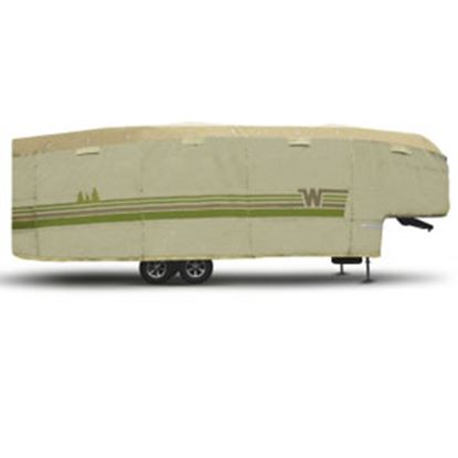 """Picture of ADCO Winnebago (TM) Tan Polypropylene Cover For 5th Wheel 23' 1""""-25' 6"""" Trailers 64852 01-8657"""