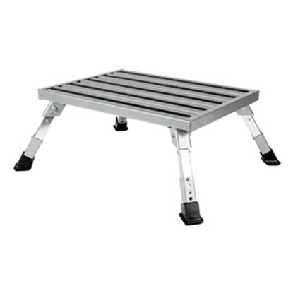 """Picture of Camco  7 to 8-1/2""""H Adjustable Aluminum Folding Step Stool 43676 03-0223"""