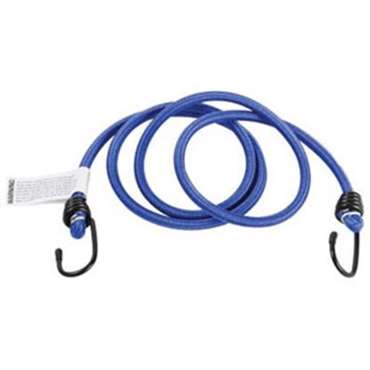 "Picture of Camco  50"" Blue Bungee Cord w/ Rubber Coated Steel Hooks 51001 03-0508"
