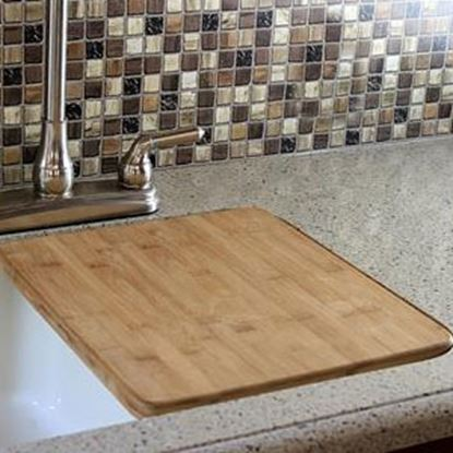 """Picture of Camco  13""""x15"""" Bamboo Sink Cover 43437 03-1952"""