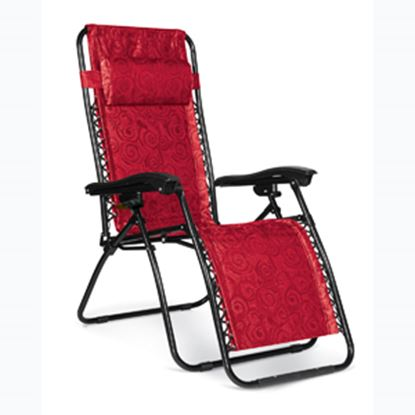 Picture of Camco  Red Swirl Zero Gravity Recliner Chair 51813 03-8550