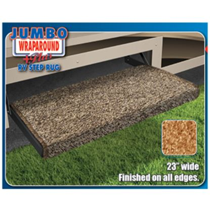 """Picture of Prest-o-Fit Jumbo Wraparound (R) Plus Brown 23"""" Entry Step Rug 2-0051 04-0362"""