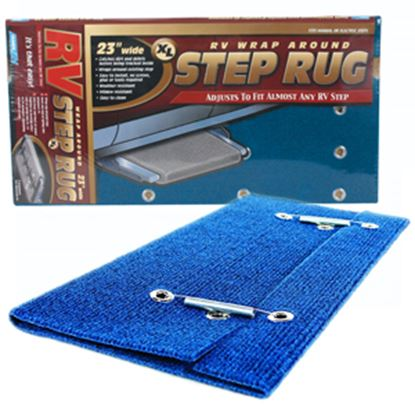 Picture of Camco  Blue XL Wrap-Around Step Rug 42934 04-0394
