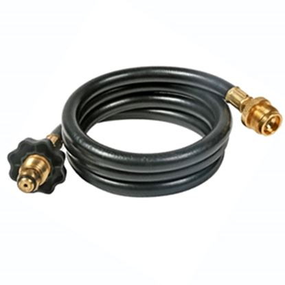 """Picture of Camco Olympian Grill Male POL x 1""""-20 Throwaway Cylinder Thread 12'L LP Grille Hose 59833 06-0467"""