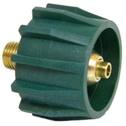 """Picture of MB Sturgis  Type 1 Connection w/ Check Valve x 1/4"""" MPT LP Hose Connector 204052-MBS 06-0665"""