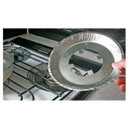 "Picture of Camco  4-Pack 7-1/2""Dia Aluminum Stove Burner Liner 43800 07-0300"
