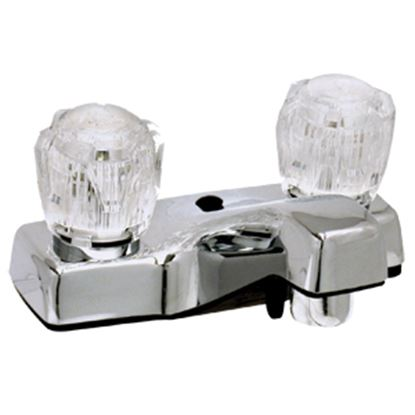 """Picture of Phoenix Faucets  Chrome w/ Clear Knobs 4"""" Lavatory Faucet PF212307 10-0191"""