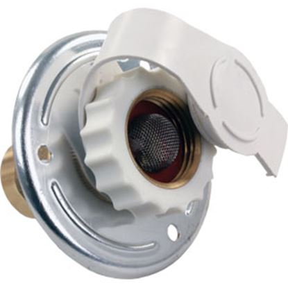 Picture of JR Products  Aluminum Flange Fresh Water Inlet w/Check Valve 62175 10-0369