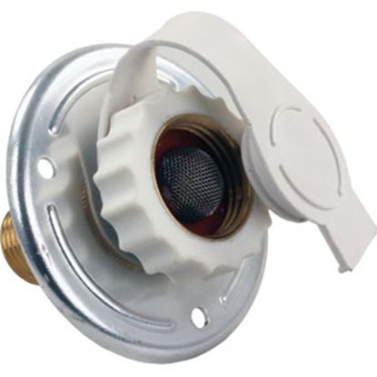Picture of JR Products  Aluminum Flange Fresh Water Inlet w/Check Valve 62185 10-0370