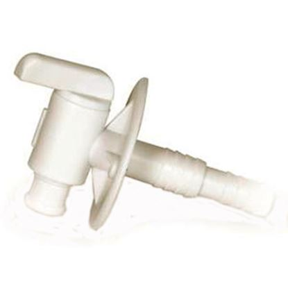 """Picture of Camco  Plastic 3/8"""" & 1/2"""" Barb Fresh Water Tank Drain Valve w/Flange 22223 10-0445"""