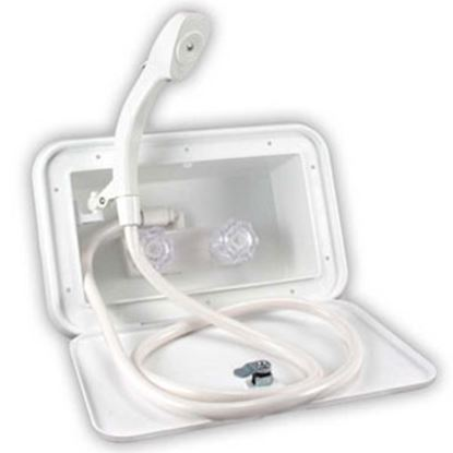 Picture of JR Products  Polar White Exterior Shower Box Door 620PW 10-1109