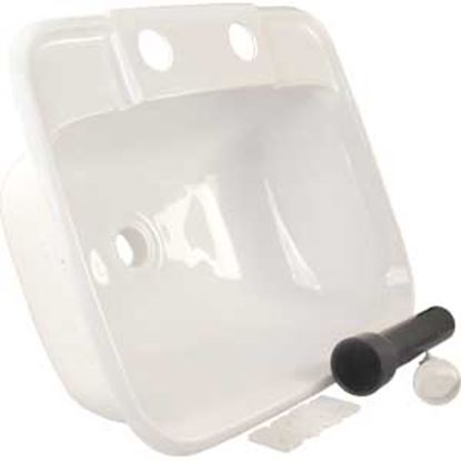 """Picture of JR Products  6""""H X 14-7/8""""W X 12-3/8""""D Rectangular White Sink 95351 10-1112"""