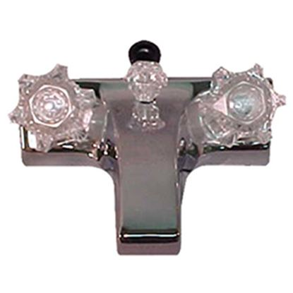 "Picture of Lasalle Bristol  Chrome w/2 Clear Knob 4"" Lavatory Faucet 20373207 10-1428"