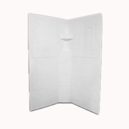 """Picture of Specialty Recreation  3-Piece White 34"""" x 34"""" x 67"""" Neo Angle Shower Surround NSW3434W 10-1888"""
