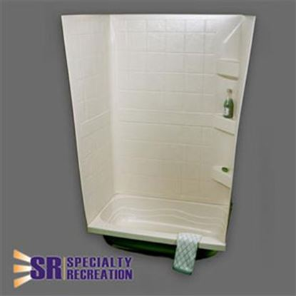 "Picture of Specialty Recreation  Parchment 24""W x 38""L x 59""H Shower Surround TW2438P 10-1926"