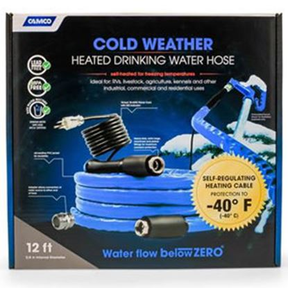 "Picture of Camco TastePURE (TM) Heated 5/8""x12' Fresh Water Hose 22920 10-1959"
