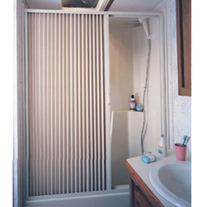 "Picture of Irvine  36"" x 67"" White PVC Shower Door 3667SW 10-2073"