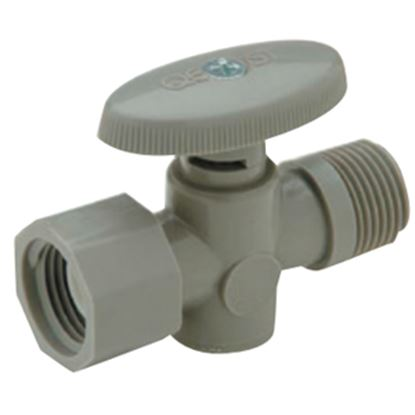 "Picture of QEST Qicktite (R) 1/2"" FPT x 1/2"" MPT Acetal Straight Stop Valve  10-3500"