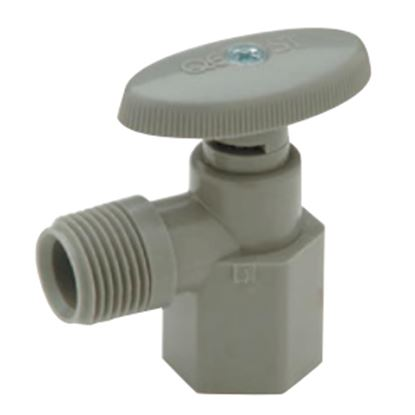 "Picture of QEST Qicktite (R) 1/2"" FPT x 1/2"" MPT Acetal Angle Stop Valve  10-3551"