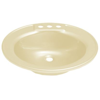 """Picture of Better Bath  19-3/4"""" X 16-5/8"""" Oval Parchment ABS Plastic Lavatory Sink 209358 10-5700"""
