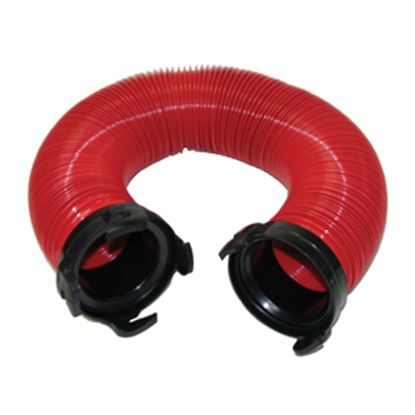 Picture of Valterra Tote Tank Red 5' HD 18 Mil Vinyl Sewer Hose D04-0111 11-0241