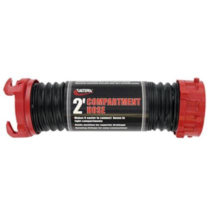 Picture of Valterra Dominator (TM) Black 2' Poly Sewer Hose D04-0202 11-0644