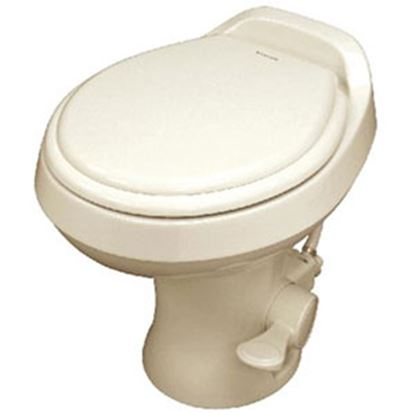 "Picture of Dometic 300 Series Bone 18"" Pedal Flush Permanent Toilet 302300073 12-0017"