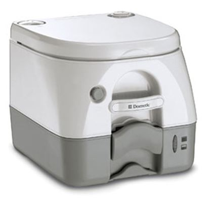 Picture of Dometic 972 Model 2.6 Gal Gray Portable Toilet 301097206 12-0021