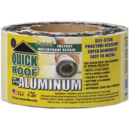 "Picture of Quick Roof  3"" x 25' Roll Aluminum Foil Roof Repair Tape QR325 13-1440"