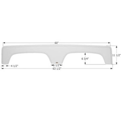 Picture of Icon  Polar White Tandem Axle Fender Skirt For Coachmen Brands Including Catalina 12284 14-1565