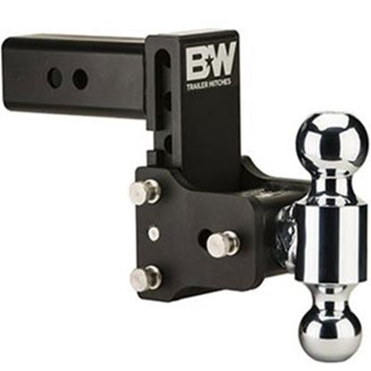 """Picture of B&W Hitches Tow & Stow (TM) Class V 2-1/2"""" 14.5K 7.45"""" Drop x 7.45"""" Lift Double Ball Mount TS20040B 14-1722"""