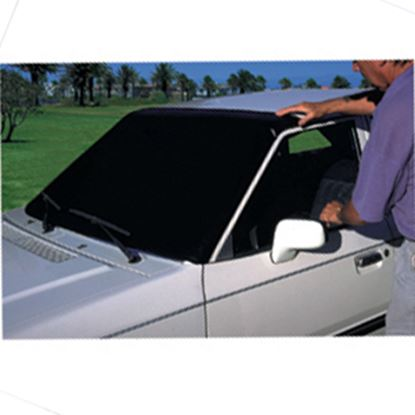 Picture of Camco Towed Vehicle Shield Black Vinyl Windshield Cover 45401 14-2711