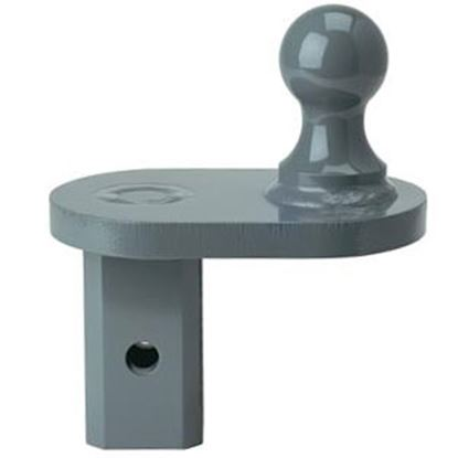 "Picture of B&W Hitches Turnoverball (TM) Steel 20K 2-5/16"" w/2-1/2 Shank 4"" Extender Gooseneck Trailer Hitch Ball GNXA4685 14-3056"