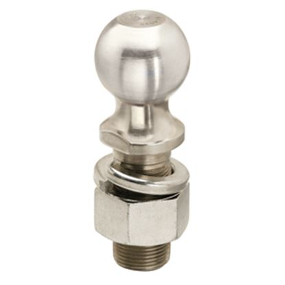 """Picture of Tow-Ready  Zinc 2"""" Trailer Hitch Ball w/ 1-1/4"""" Diam x 2-3/4"""" Shank 63831 14-8615"""