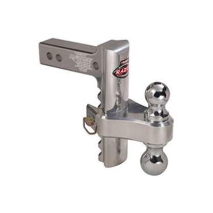 "Picture of Trimax Locks Razor (TM) RP 2"" 10K 6"" Adj Drop/ Lift Aluminum Double Ball Mount TRZ6ALRP 14-8840"