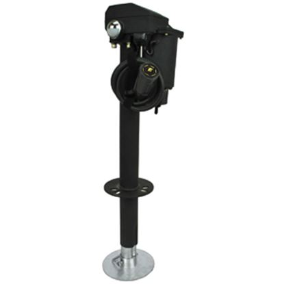 Picture of Ultra-Fab Ultra 3502-7 Black 3500 Lb Electric Round Trailer Jack 38-944037 15-0212