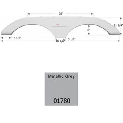 Picture of Icon  Metallic Gray Tandem Axle Fender Skirt For Keystone Brands 01780 15-0599