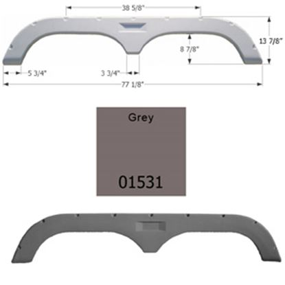 Picture of Icon  Grey Tandem Axle Fender Skirt For Fleetwood Brands 01531 15-1601