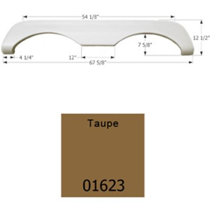 Picture of Icon  Taupe Tandem Axle Fender Skirt For Mckenzie/ Holiday Rambler Brands 01623 15-1626
